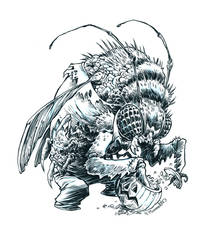 Inktober Bug-Man #24 by RobbVision