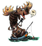Happy Moose by RobbVision
