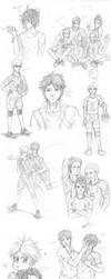 Sketch Dump with Haikyuu! by wasipol
