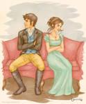 Pride and Prejudice: Darcy and Elizabeth by mseregon