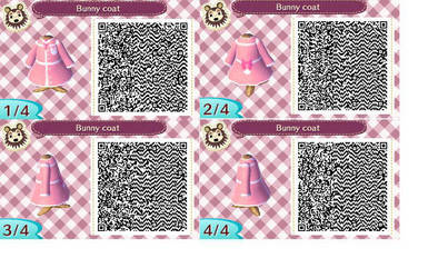 Image of: Acnl Animal Crossing Winter Bunny Coat Qr Code By Aelita3575 Deviantart Animal Crossing Qr Codes By Aelita3575 On Deviantart