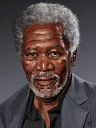 Etude (Morgan Freeman) by thomasbignon