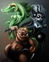 Cal's Pokemon by spookygoss