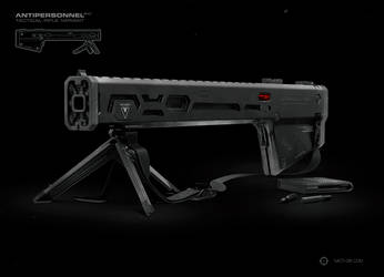 AP-C Zero Tactical Rifle Render by moth3R