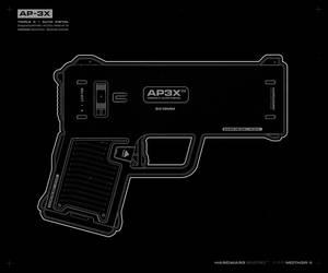 AP3X pistol #blueprint by moth3R
