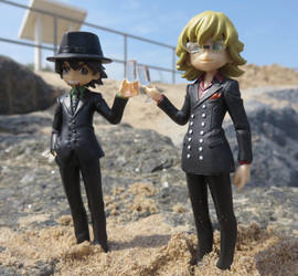 Tiger and Bunny at the beach by Candyfloss-Unicorn