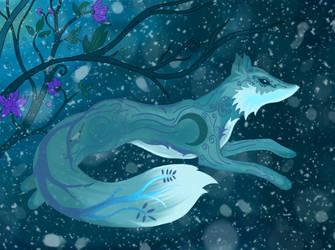 Snow Fox by Candyfloss-Unicorn