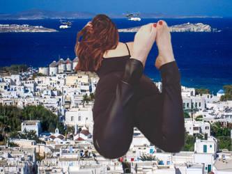 Giantess Elisangela Paula in Mykonos by zebostinha2003