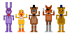 FNAF mini pixels by DrFoxes