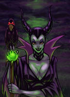 Maleficent by vic55b