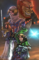 legends of zelda colored by vic55b