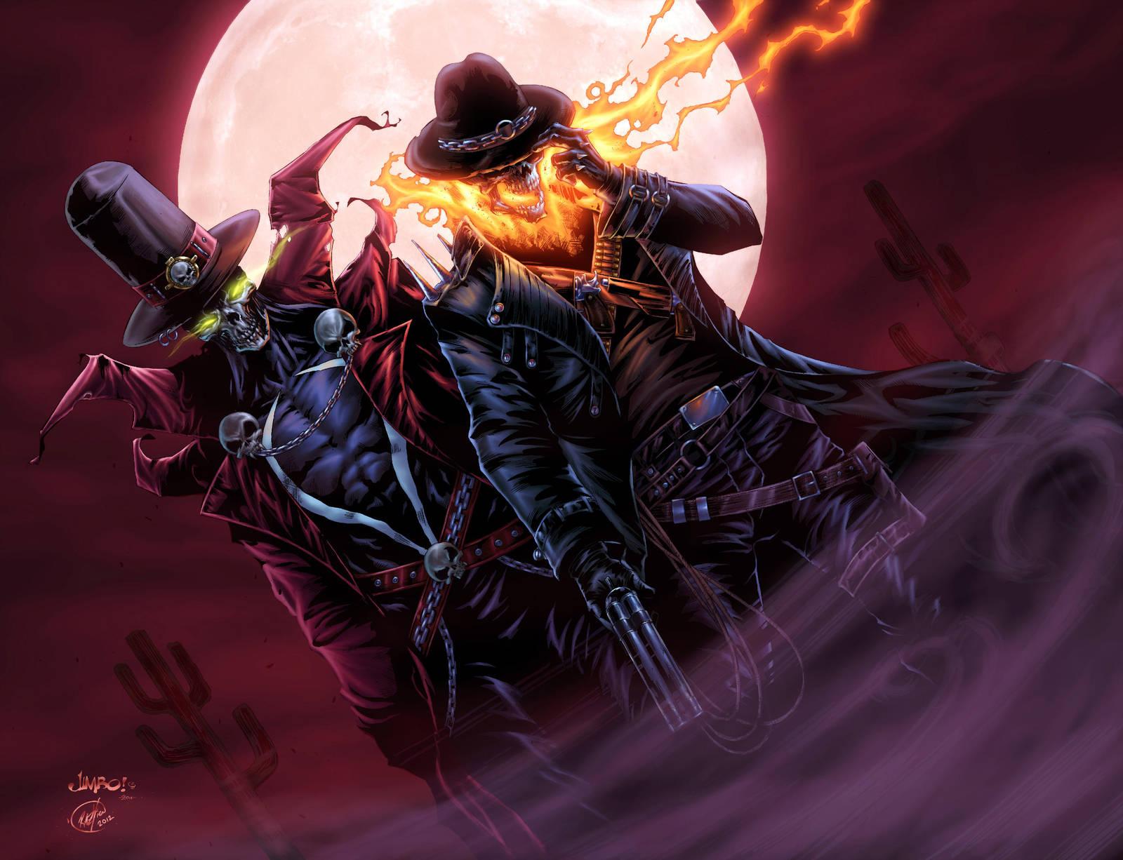 Gunslinger Spawn/ Western Ghost Rider/ BA color by vic55b