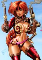 Red Monika_colors_vic55b by vic55b