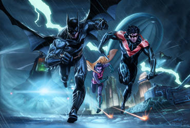The Bat and Birds by vic55b
