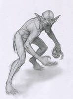 vampire bat Gollum by Mavros-Thanatos