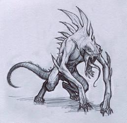 Reptile Creature by Mavros-Thanatos