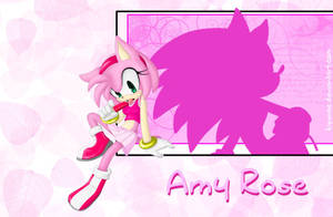 -:Amy Rose:-Wallpaper by Kyunae