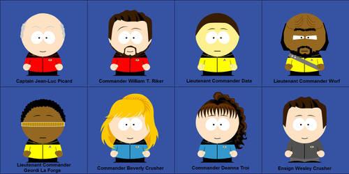 Star Trek TNG South Park Style by kafaraqgatri
