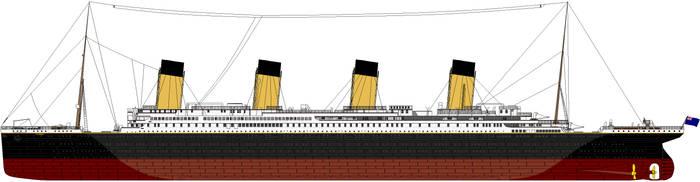 The R.M.S Titanic - Detailed by kafaraqgatri