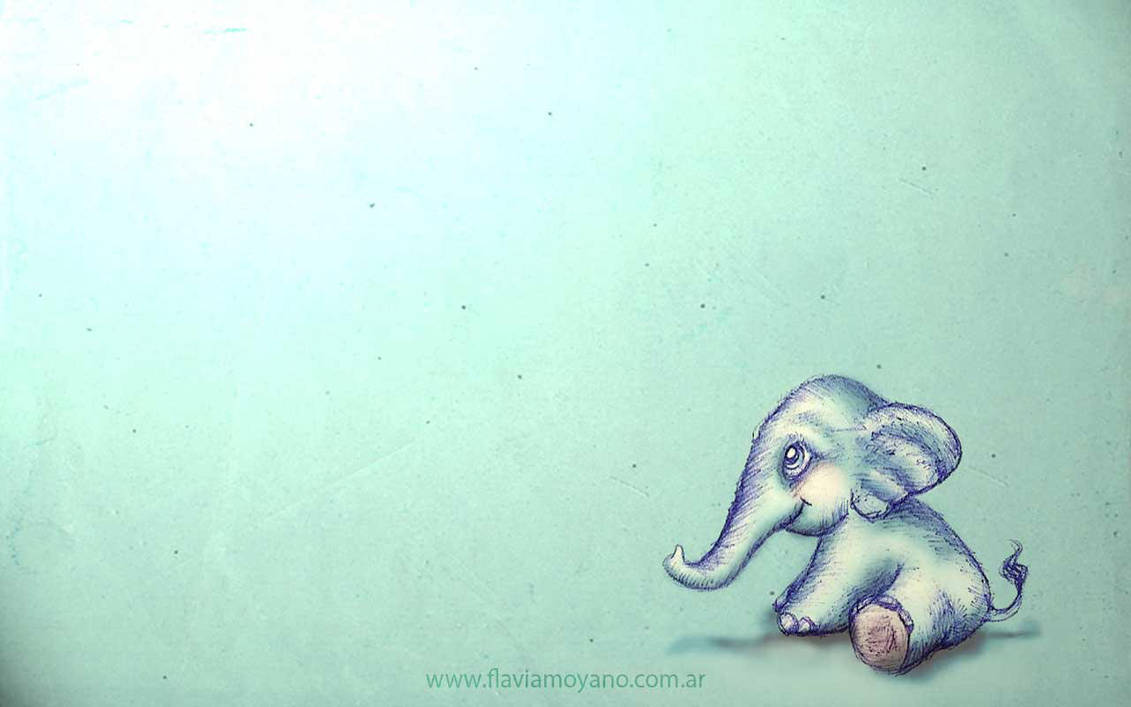 Kawaii Elephant Wallpaper
