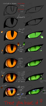 Tutorial - Cat eyes (PAINT TOOL SAI) by Copperlight