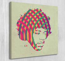 Jimi Hendrix canvas print by Par4noid