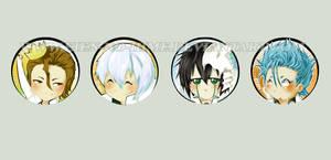 Bleach Buttons Set Espada by Eien-no-hime