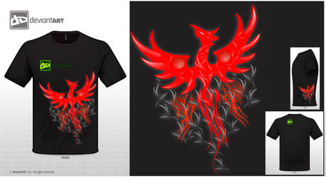 Phoenix red and white vector by cletssimple