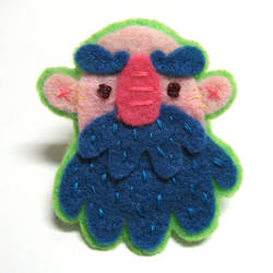 Blue Beard Felt Pin by TRAVALE