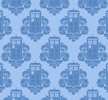 Tardis Damask by TRAVALE