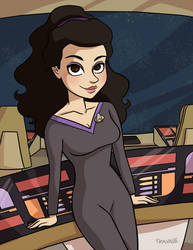 Deanna Troi by TRAVALE