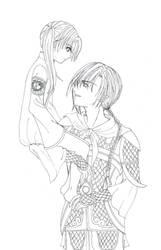 Saya and Seiryuu by IrisLafine