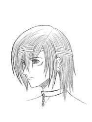 Random facial sketch by IrisLafine