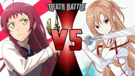Emi Yusa VS Asuna Yuuki by SpyKrueger