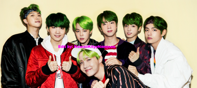 Bts With Green Hair By Kawaiibtskitties On Deviantart