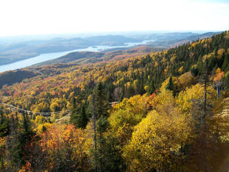 Mont-Tremblant View in Autumn by Mystic-Cat-Goddess