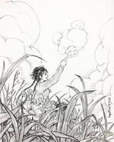 Inktober 2017: Day 9 - Canvas by IngridTan