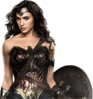 Gal Gadot as Wonder Woman with shield 2 PNG by nickelbackloverxoxox