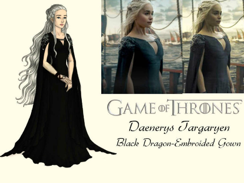 GoT-Daenerys Targaryen's Black Gown by nickelbackloverxoxox