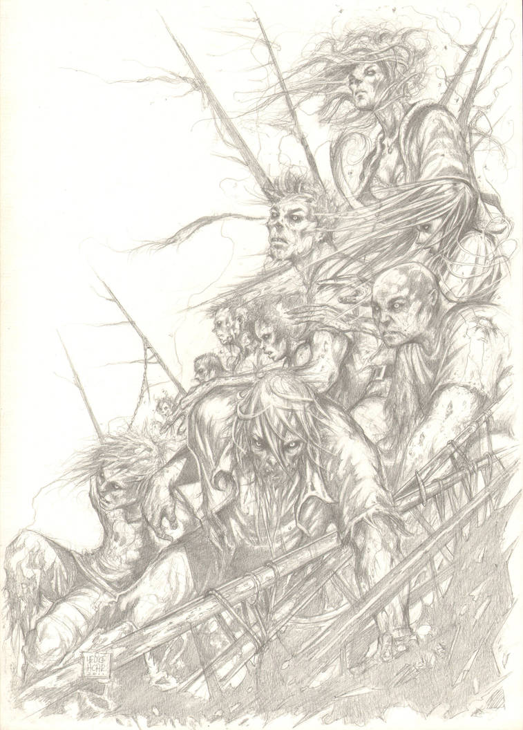 zombies pencil version by MelikeAcar