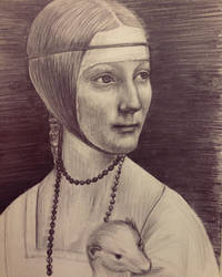 The lady with an ermine drawing by arasacer
