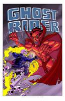 Ghost Rider Print by TonyFleecs