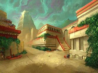 Aztec City by 7leipnir