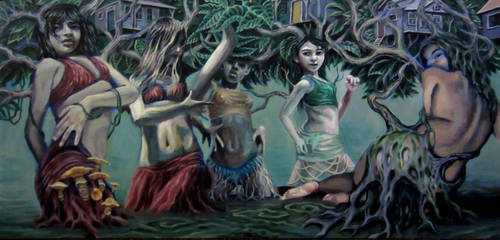 dancing dryad grove by cannibol