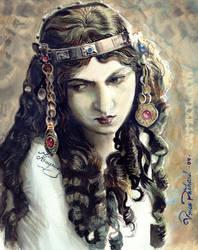 gypsy vintage girl by cannibol