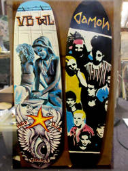Clea and solo sk8deck, damon sk8deck by cannibol
