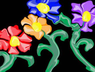 Liquid Flowers by archaicangel