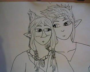 Link and Prince Komali by EvesAria