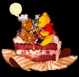 Rilakkuma and Winnie by Lunarmole