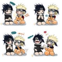 Sasuke and Naruto edit by kisaxkyo